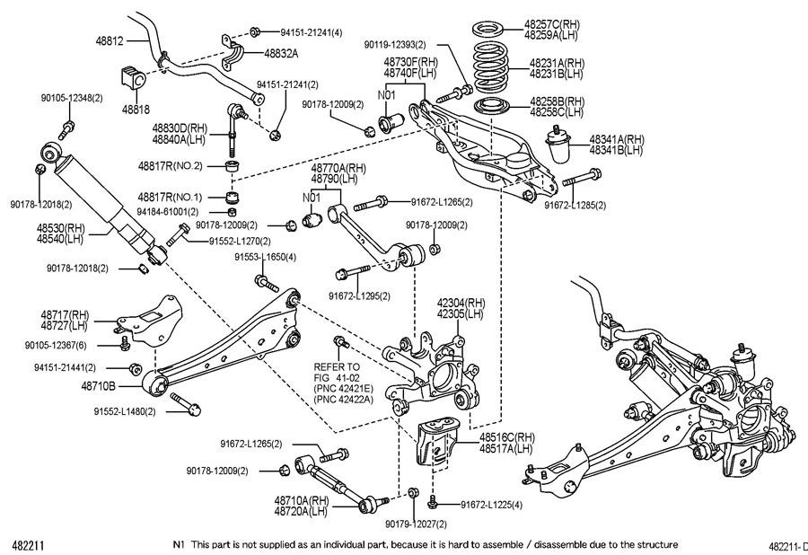 toyota rav 4 rear spring  u0026 shock absorber