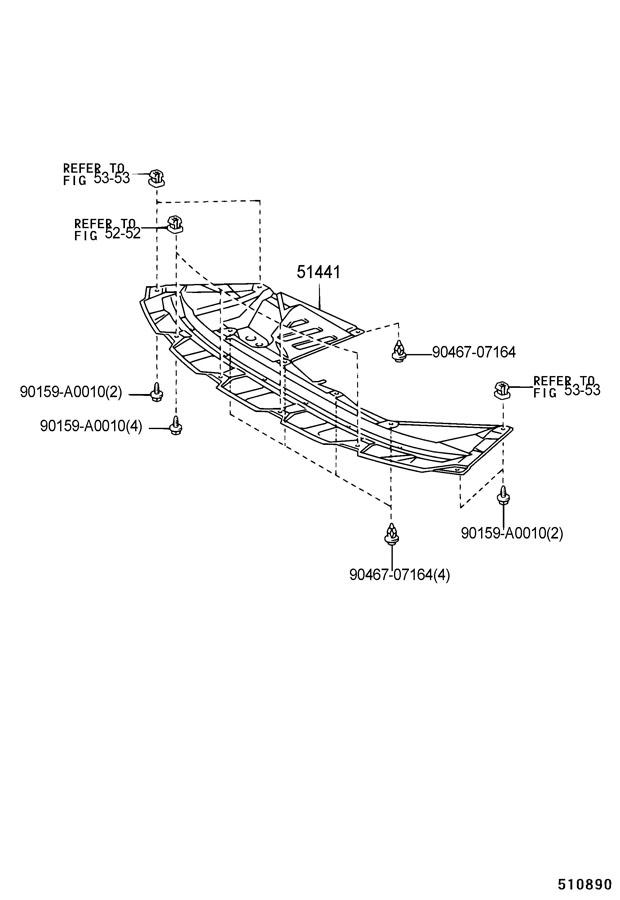 TOYOTA SIENNA Cover, engine under, no.1 - 5144108020 ...