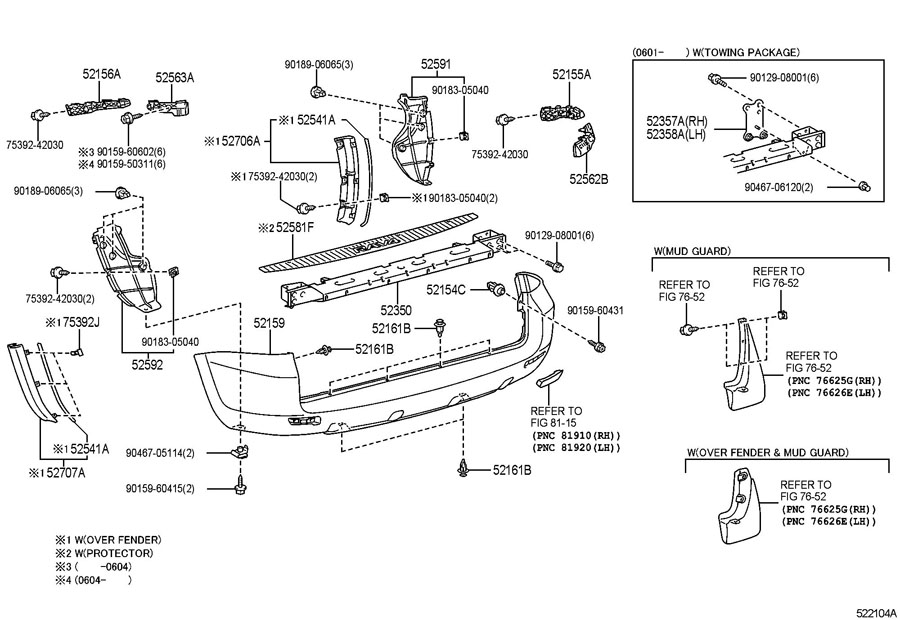 2004 toyota matrix bumper diagram