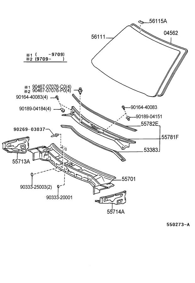 A on 1999 Toyota Camry Parts Diagram