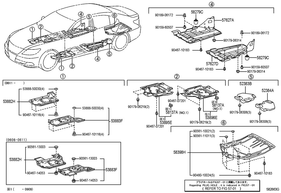 FLOOR PAN & LOWER BACK PANEL Diagram