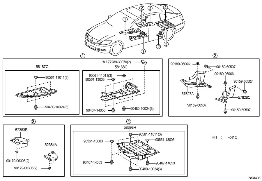 Diagram FLOOR PAN & LOWER BACK PANEL for your 1991 TOYOTA 4RUNNER TRUCK, STANDARD 3000CC EFI, MANUAL , 5-SPEED