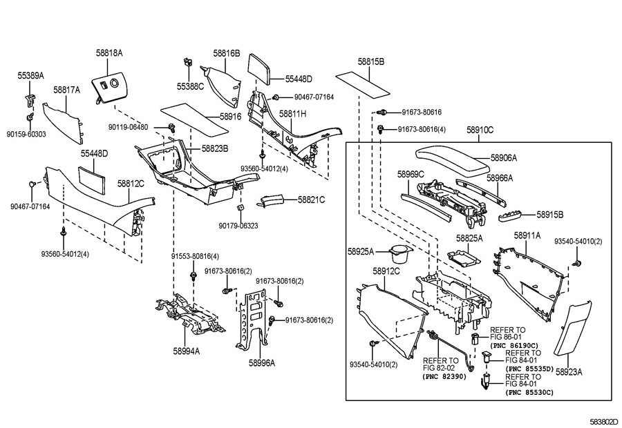 CONSOLE BOX & BRACKET Diagram
