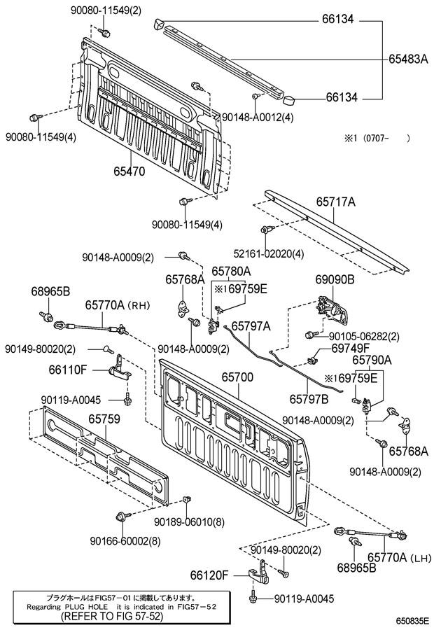 2008 toyota tundra tailgate parts diagram  toyota  auto