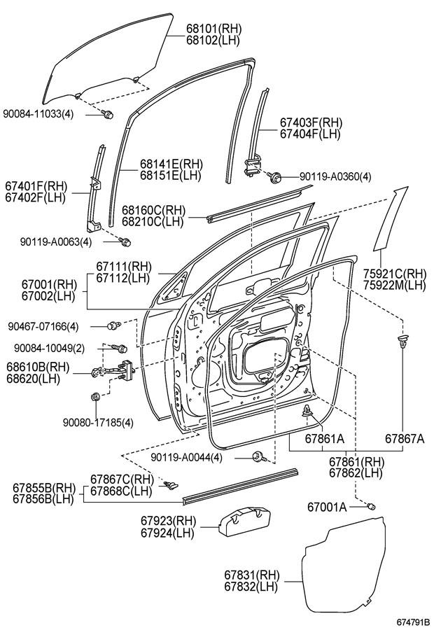 Toyota Tundra Weatherstrip  Molding  Belt  Weatherstrip