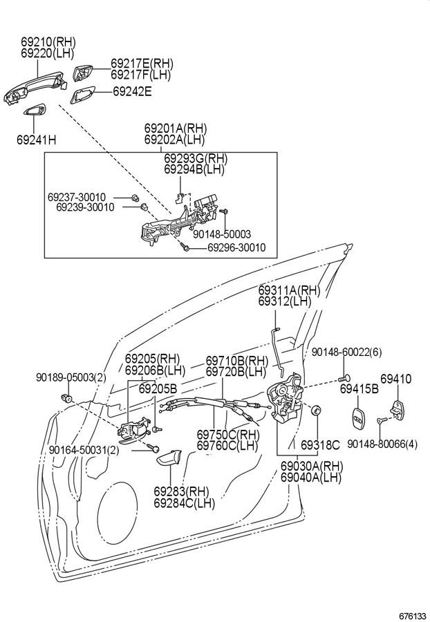 2013 Toyota Corolla Lock  Door  Actuator   Front   Incllatch  Wmotor