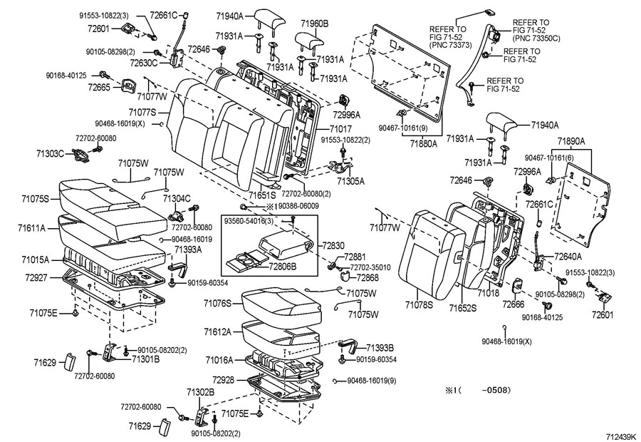 2006 Toyota 4runner Folding Seat Latch Release Handle