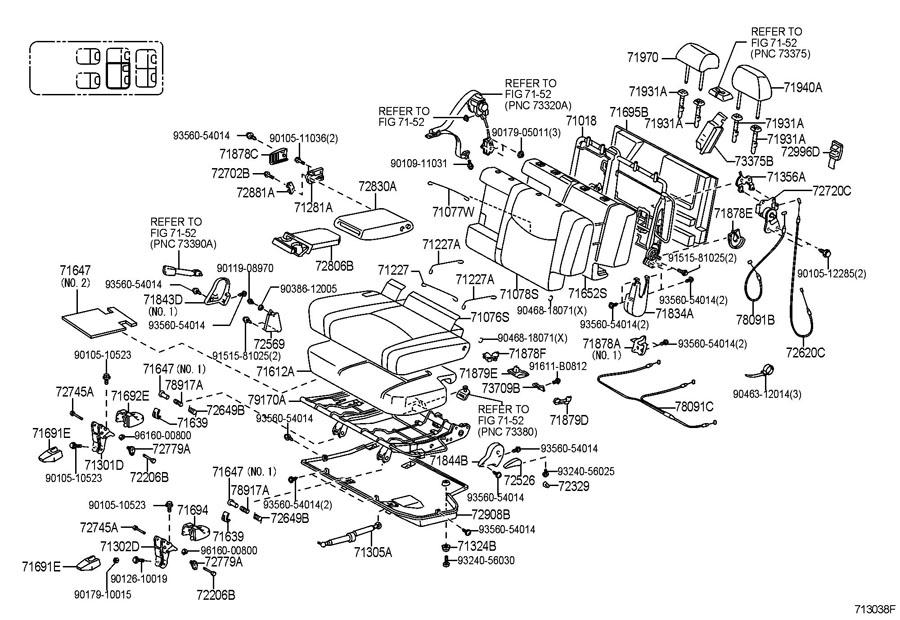 Toyota 4runner Headrest Assy  Rear Seat  W  3rd Seat  Stone