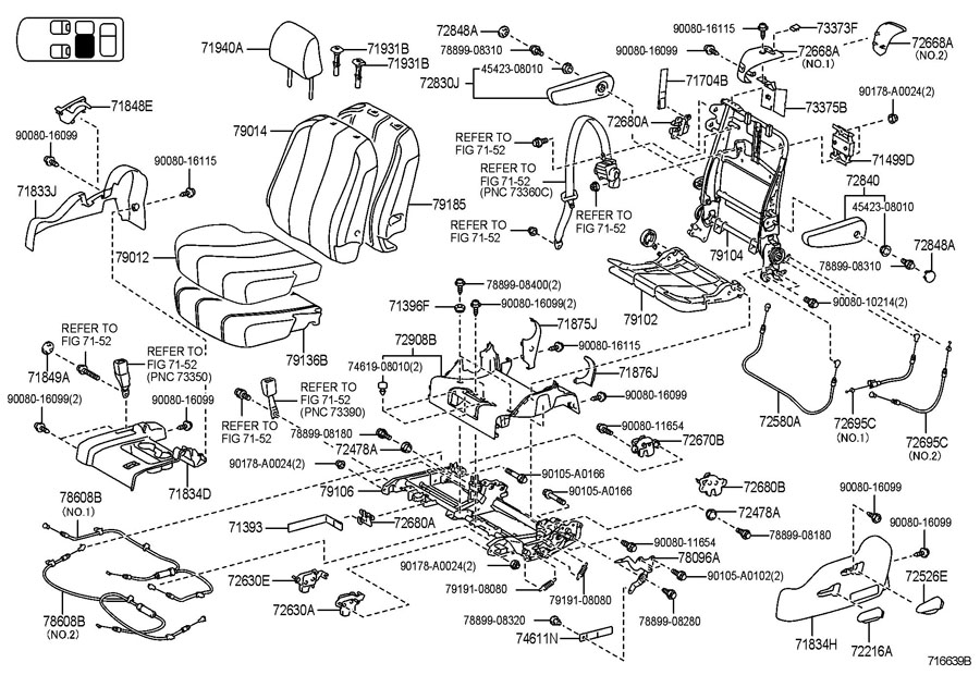 Toyota Sienna Seat Armrest Cap
