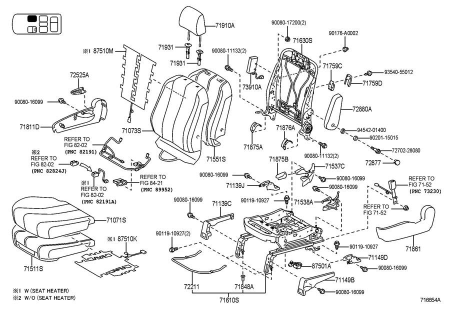 2012 Toyota Sienna Seat Frame Trim Panel  Front  Lower
