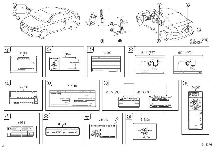 Scion Tc Label  Emission Control Information