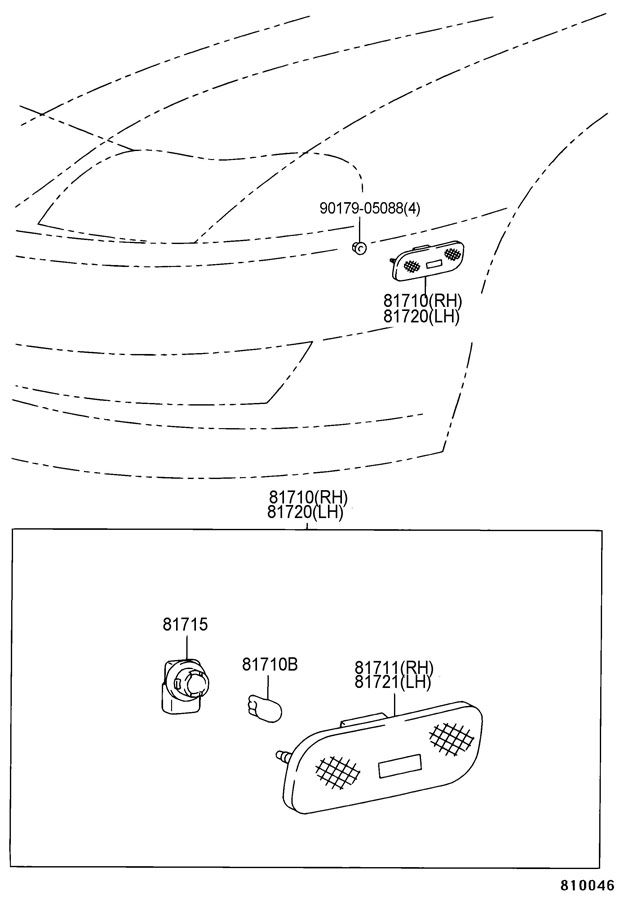 Diagram FRONT MARKER LAMP for your 1991 TOYOTA 4RUNNER TRUCK, STANDARD 3000CC EFI, MANUAL , 5-SPEED