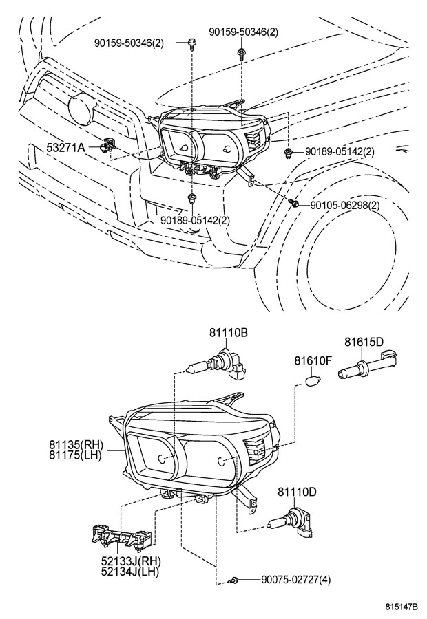 HEADLAMP Diagram