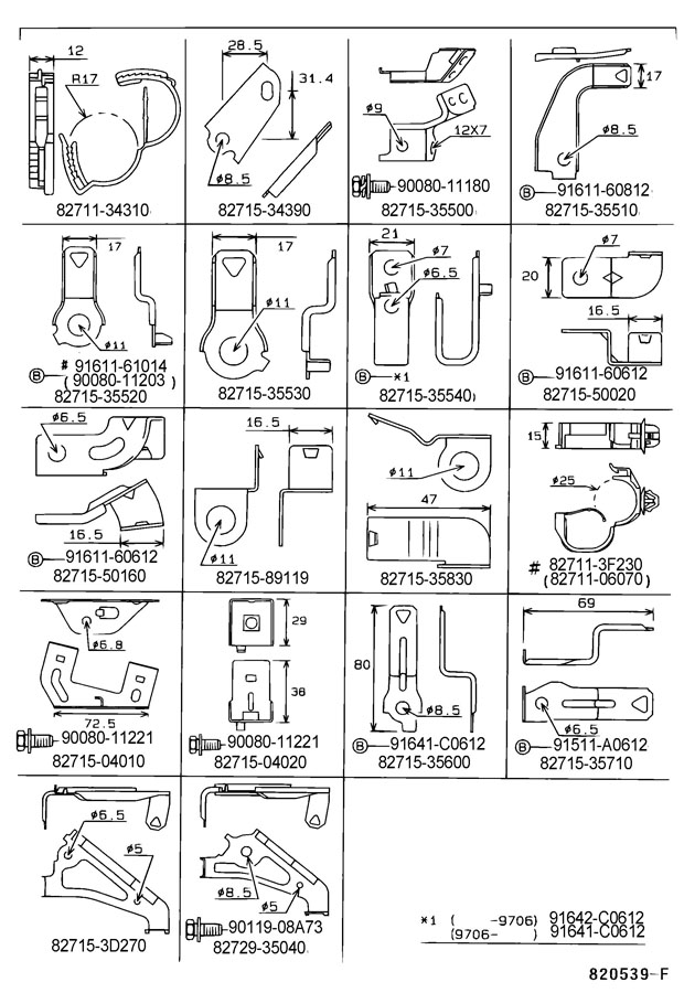 Toyota Tacoma Bracket  Wiring Harness