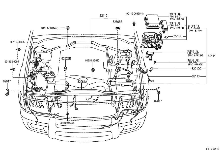 Toyota Land Cruiser Wire  Engine Room  No 2  W Rear