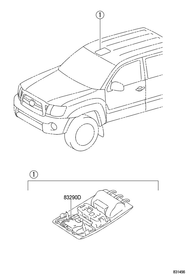 Toyota Tacoma Meter Assy  Accessory  Withftp