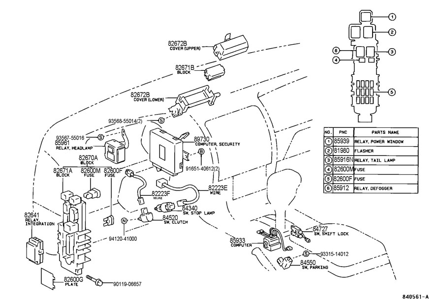 shift interlock wiring diagram 2006 toyota
