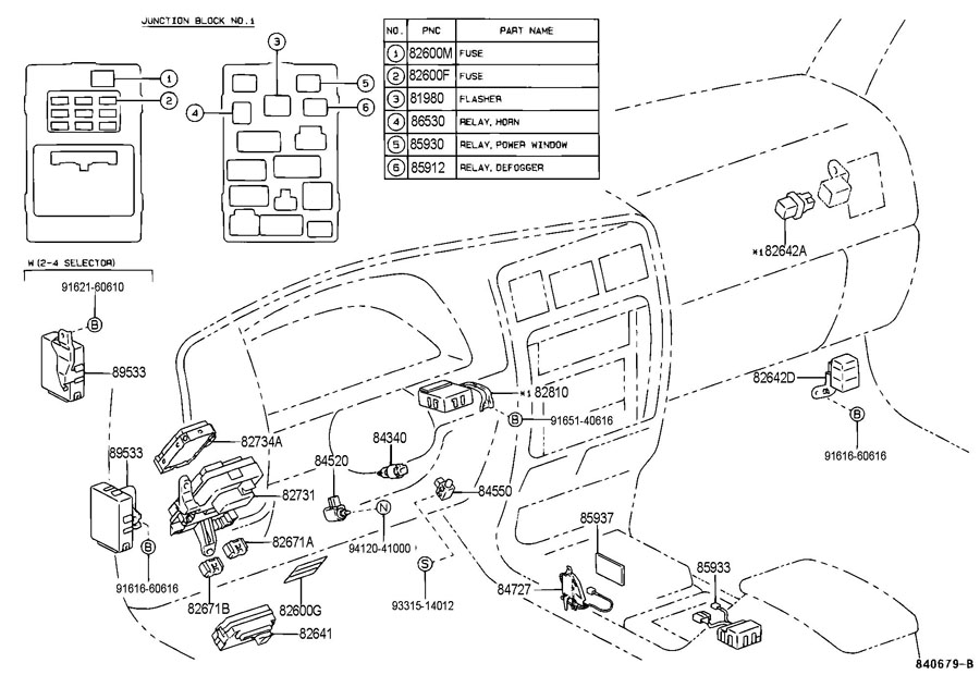1998 toyota 4runner fuse box diagram
