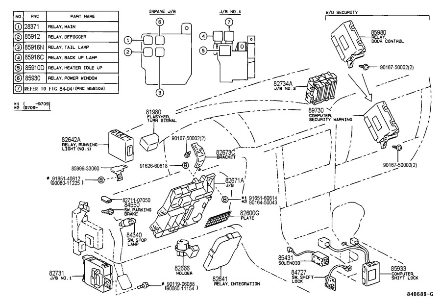 Diagram  2008 Toyota Avalon Relay Diagram Pdf Full