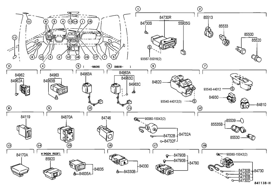 Parts Besides Toyota Avalon Fuse Box Diagram On 1999 on toyota avalon 2008 fuse box locations