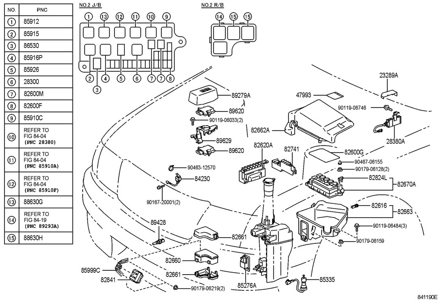 Diagram SWITCH & RELAY for your 1991 TOYOTA 4RUNNER TRUCK, STANDARD 3000CC EFI, MANUAL , 5-SPEED