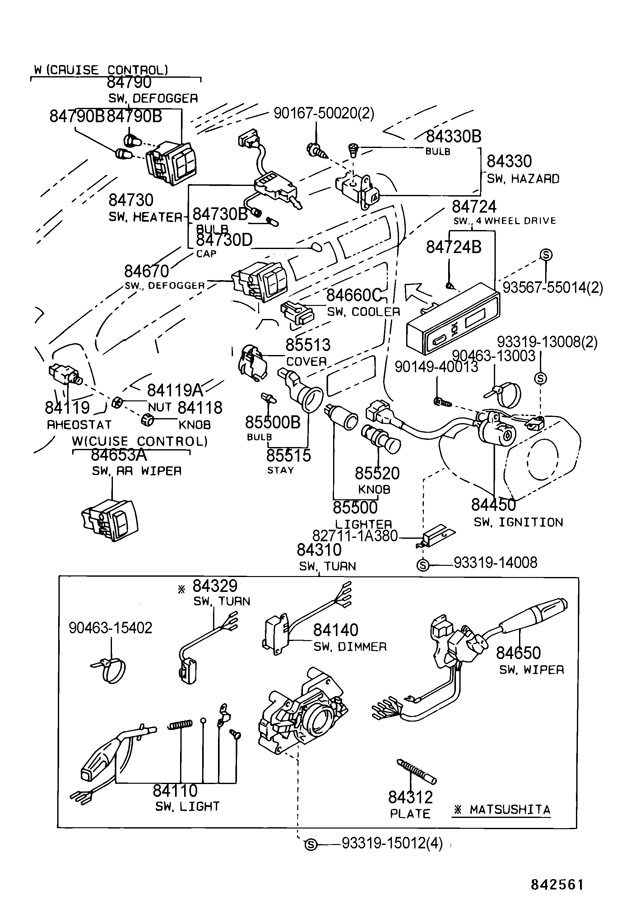 1997 Toyota 4Runner Fuel Pump Wiring Diagram from www.toyotapartsoverstock.com