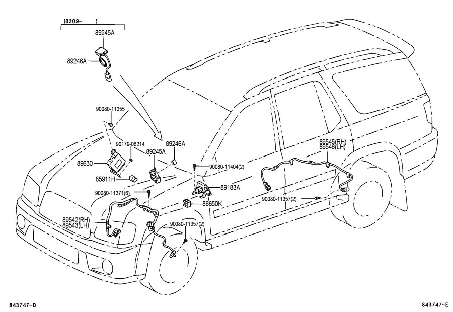 2008 toyota sequoia interior parts diagram