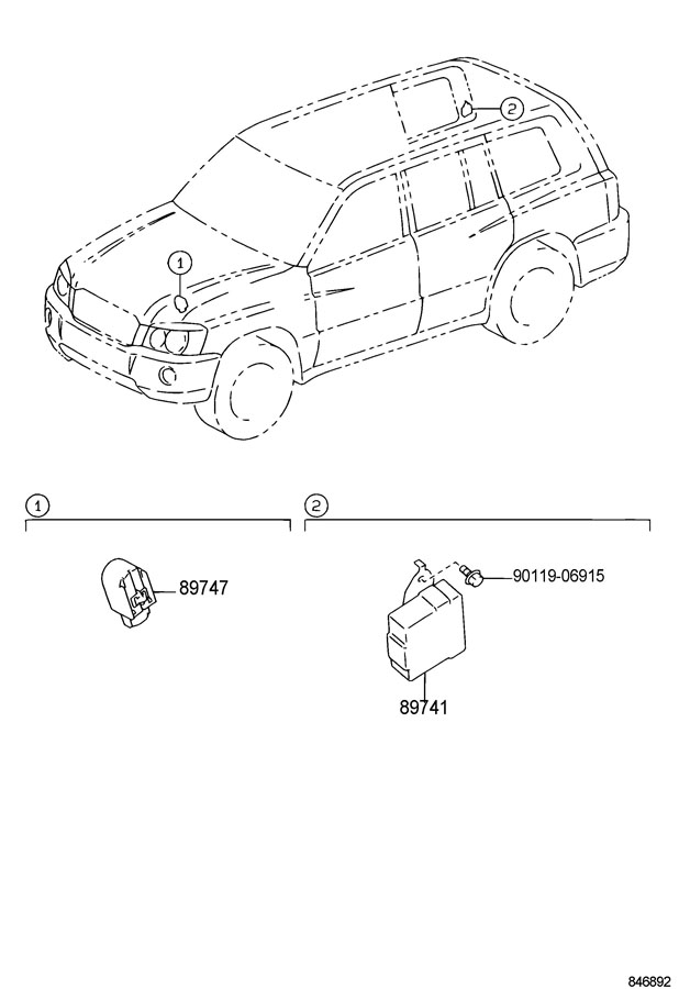 8974748020 Toyota Buzzer Clearance Warning No 2