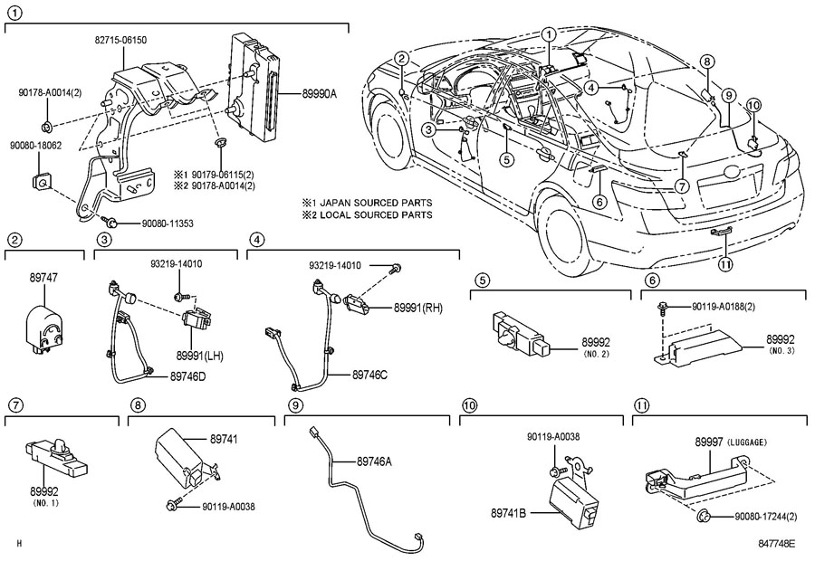 Toyota Camry Receiver Assembly  Smart  Receiver  Control