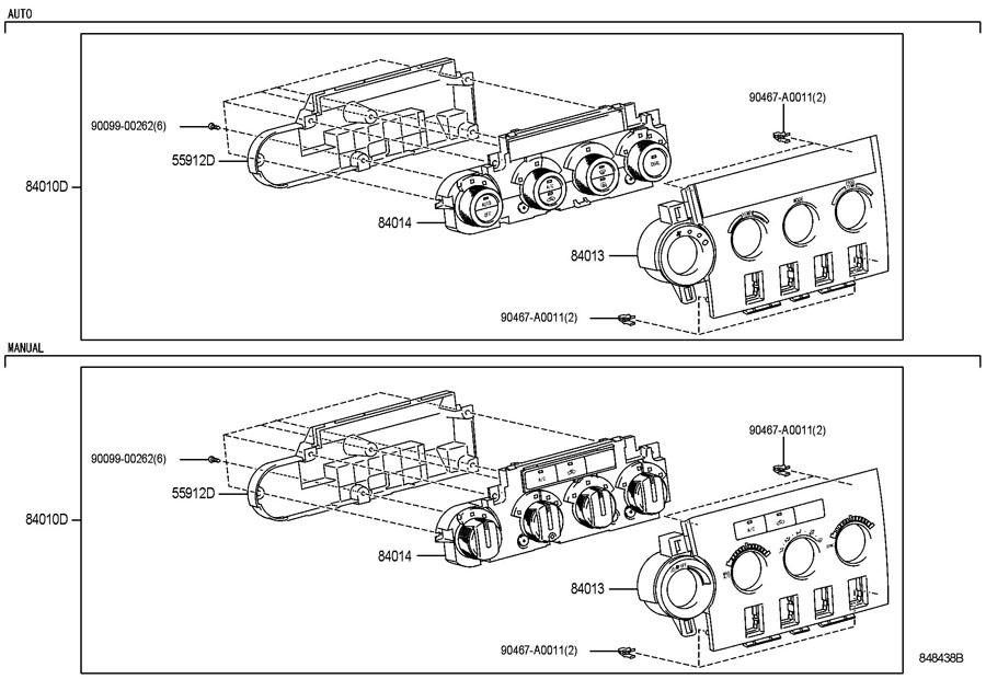 Toyota Tundra Control  U0026 Panel Assy  Integration  Temp