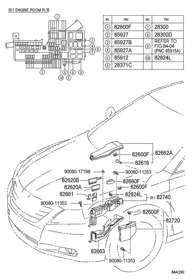 2010 toyota camry relay assy  for heater blower motor