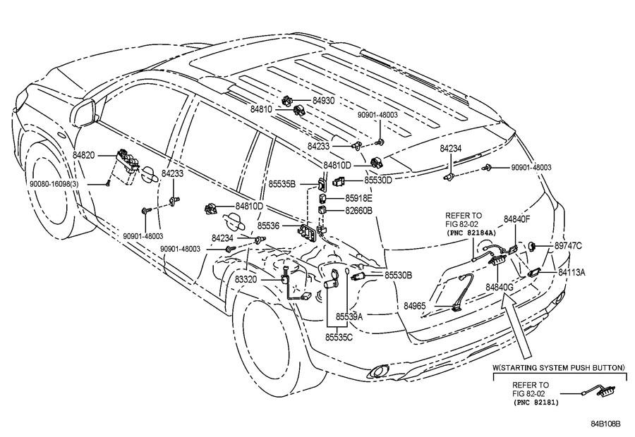 2009 Toyota Highlander Back Glass Release Switch  Hatch
