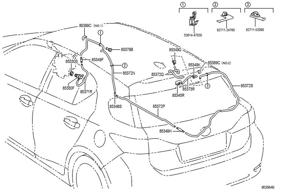 2008 Scion Motor  U0026 Pump Assy  Rr Washer  Motor And Pump