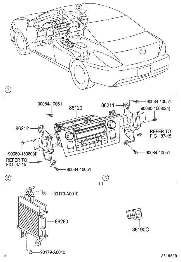 2007 Toyota Solara Radio Amplifier  Coupe