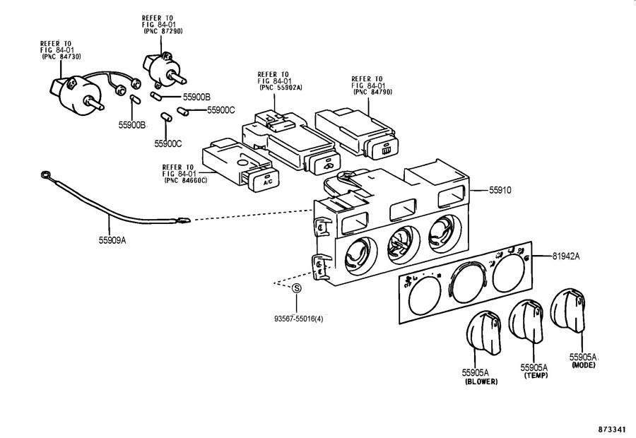 2001 Toyota Camry Knob  Heater Control  Knob  Heater