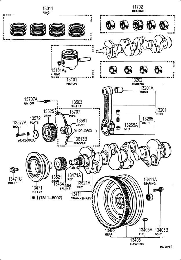 1301669021  TOYOTA Ring set  piston Os 075 3pcs Ring  piston Ringpiston   Toyota Parts