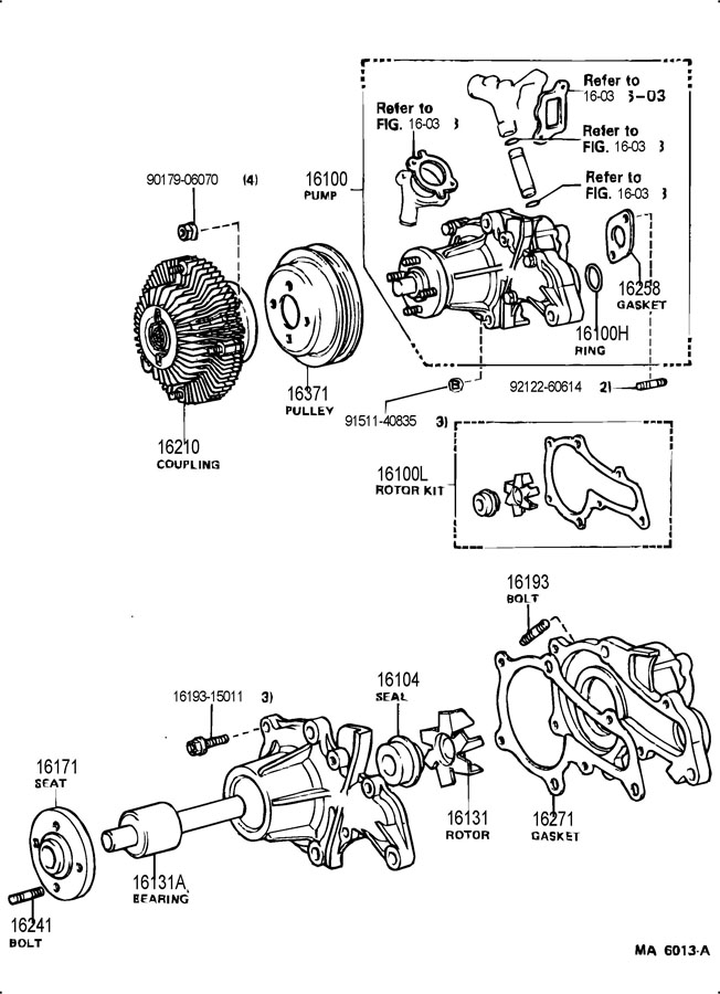 1624115020 - TOYOTA Bolt, stud(for water pump coupling ...