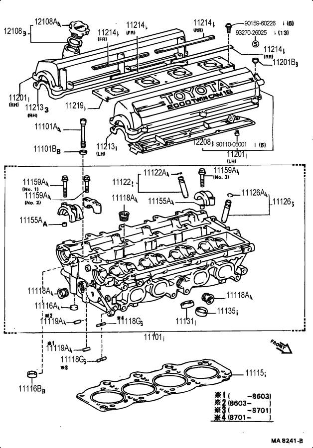 Toyota Celica Bush  Exhaust Valve Guide  Bush  Intake