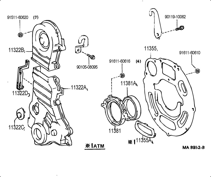 1132811020 - TOYOTA Gasket, timing belt cover, no.1 ...