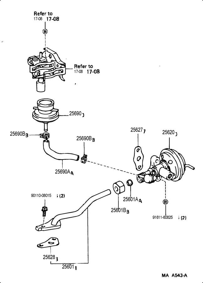 1989 Toyota Modulator Assy  Egr Vacuum  Valve Assy  Egr