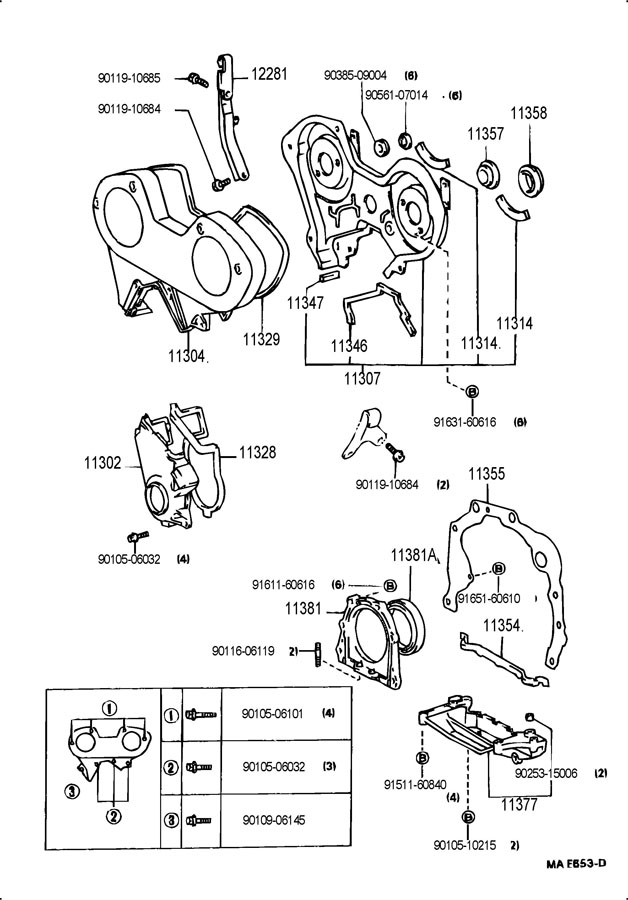 9031192005     Toyota    Seal  engine rear oil Seal  type t