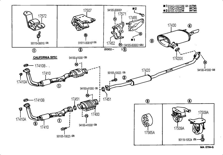 1997 toyota camry bumper diagram