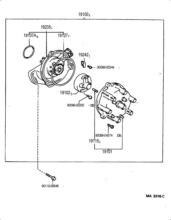 1996 TOYOTA T100 Ring, o, distributor housing - 9009914127 ...