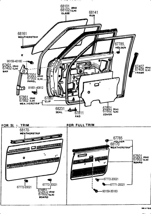 toyota corona panel sub-assy  front door  lh  panel sub-assy  fr d