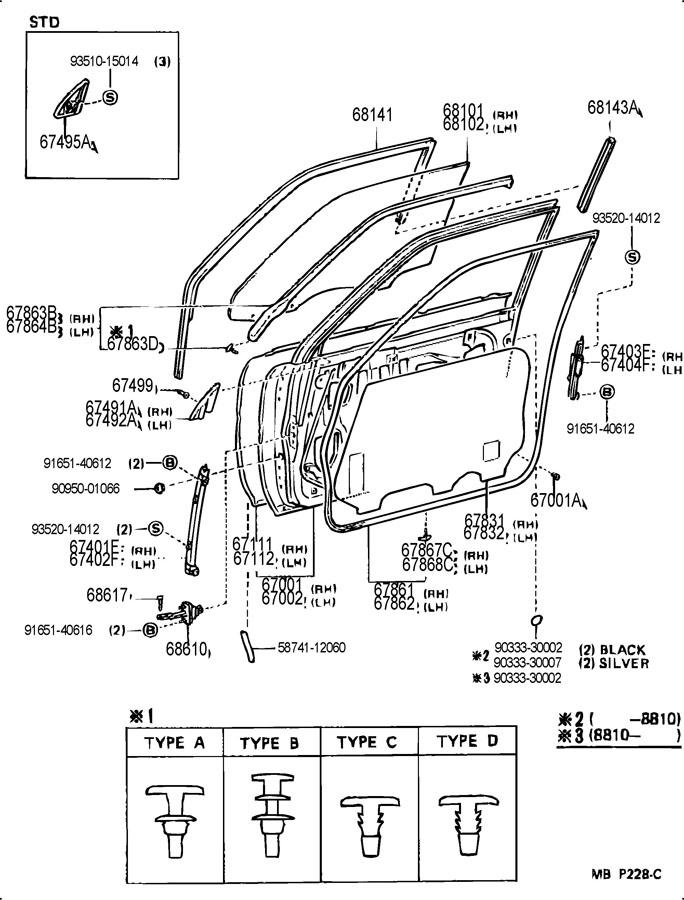 2001 toyota camry front bumper parts diagram