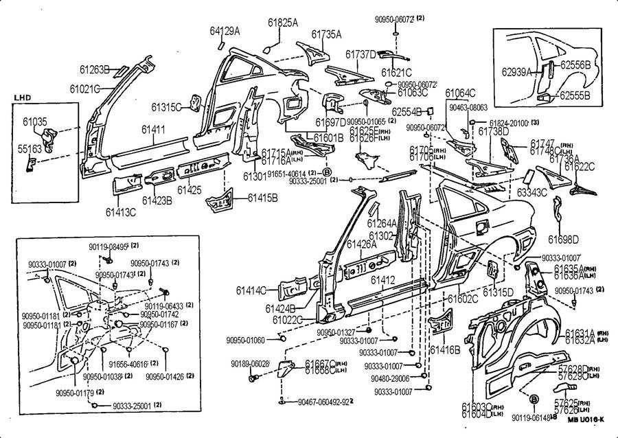 1993 Toyota Mr2 Panel Sub-assy  Quarter  Lh