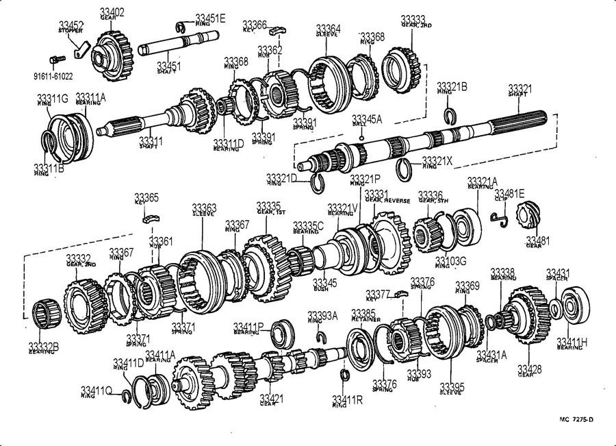 Toyota Supra Manual Transmission Input Shaft Bearing