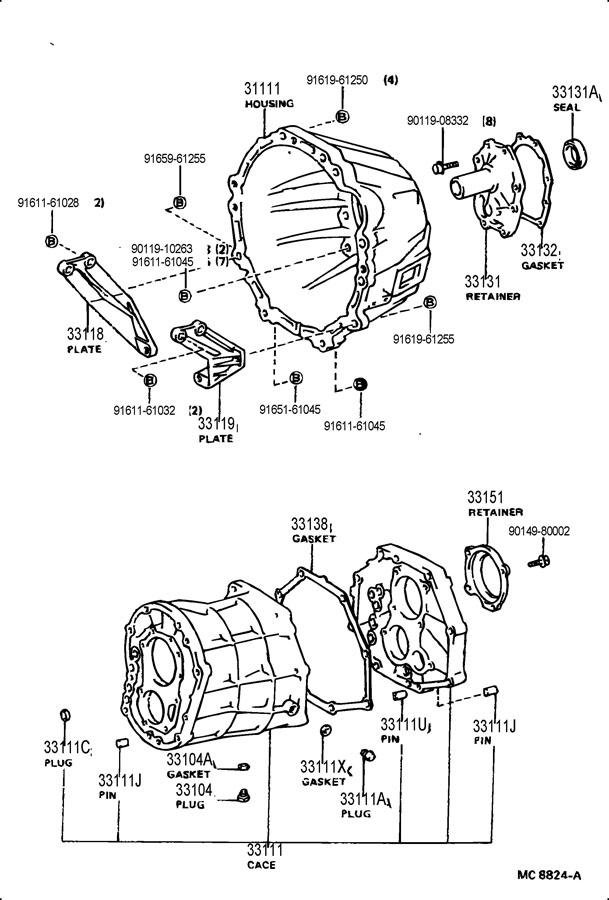 1981 toyota transmission assembly