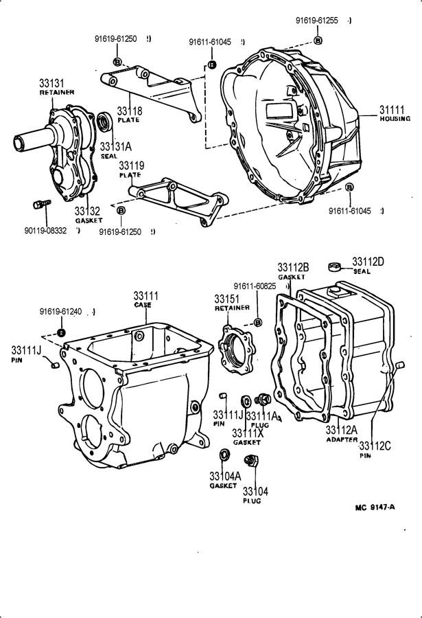Toyota Land Cruiser Gasket  Transfer Adapter  Gasket