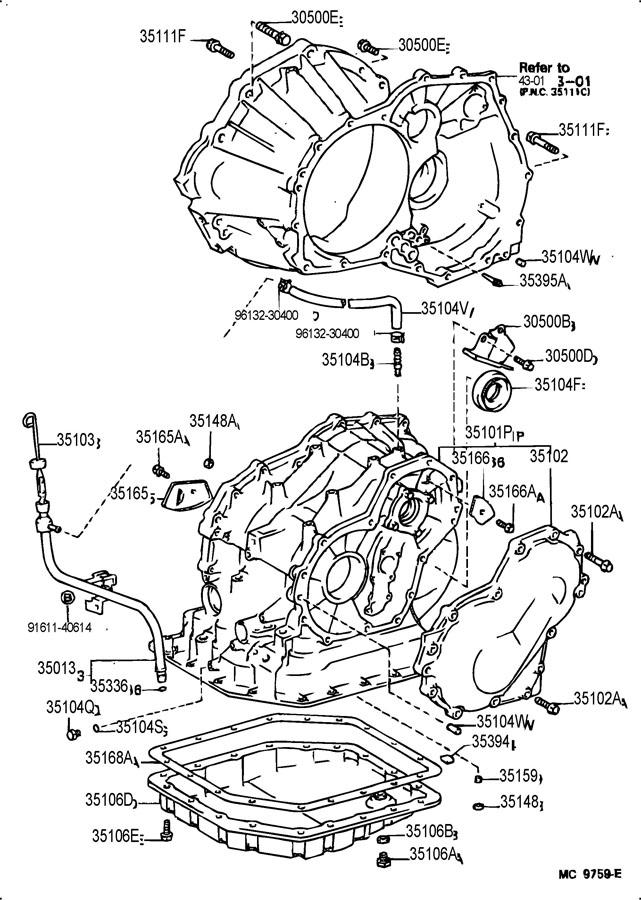 3510312060 Toyota Gage Sub Assy Transmission Oil Level